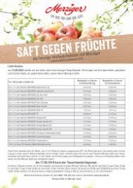 MERZIGER Saft gegen Früchte